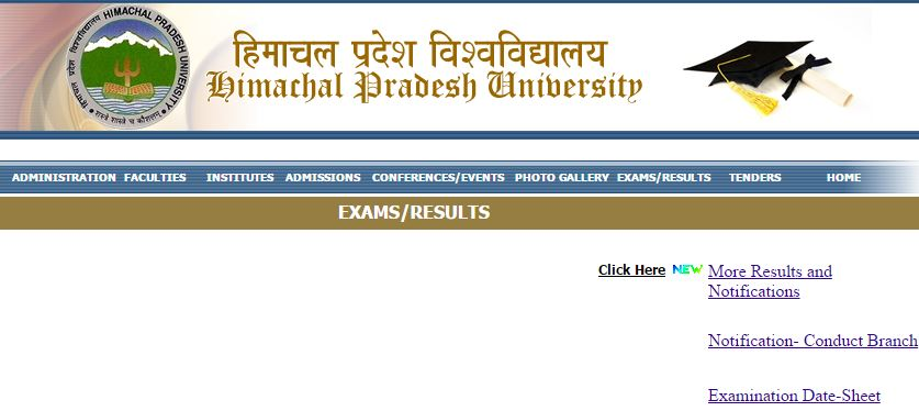 HP University Result 2019 BA, BSC, BCOM, MA, MSC, MCOM