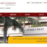 Jesus & Mary College Cut off List 2016