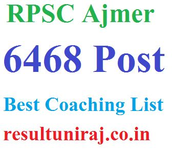 Rajasthan Best Coaching List
