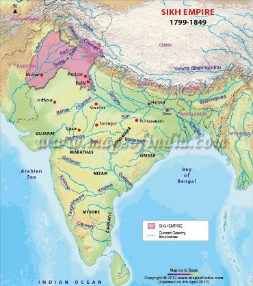 Indian History Map Questions