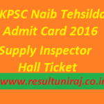 UKPSC Naib Tehsildar Admit Card 2016 download Supply Inspector Hall Ticket