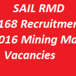 SAIL RMD Recruitment 2016 Apply Online Form 168 Mining Mate Jobs