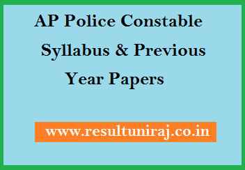 AP Police Constable Syllabus & Previous Year Papers