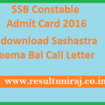 download Sashastra Seema Bal Call Letter