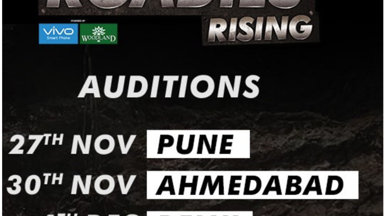 MTV Roadies 2018 Audition Dates, Venues, Online Registration