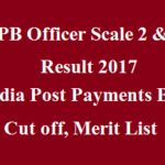IPPB Officer Scale 2 & 3 Result 2017