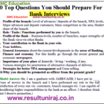 Best Bank Interview Questions And Answers