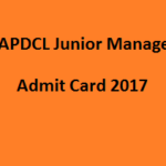 APDCL junior Manager Admit Card 2017