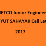 GETCO Junior Engineer Hall Ticket 2017