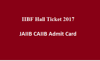 IIBF Hall Ticket 2017 ...