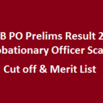 IPPB PO Prelims Result 2017 Probationary Officer Scale 1 Cut off & Merit List