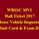 WBSSC MVI Hall Ticket 2017