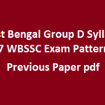 West Bengal Group D Syllabus 2017 WBSSC Exam Pattern & Previous Paper pdf