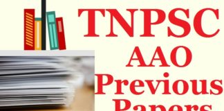 TNPSC AAO previous years papers