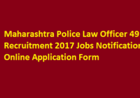 Maharashtra Police Law Officer 49 Recruitment 2017 Jobs Notification Online Application Form