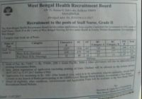 WBHRB Recruitment 2017 Staff Nurse