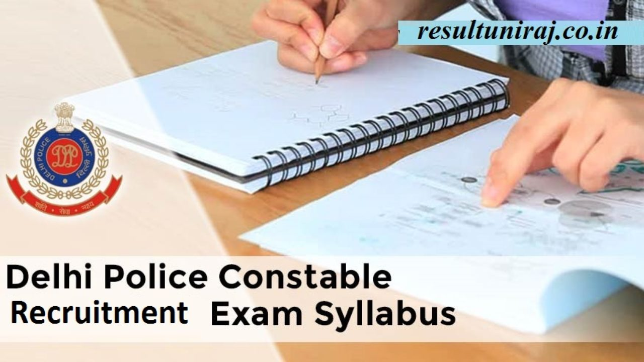 Delhi Police Constable Syllabus 2019, DP Police HC Exam