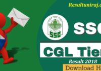 SSC CGL Tier-II Result 2018