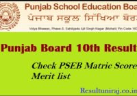 Punjab Board 10th Result 2019