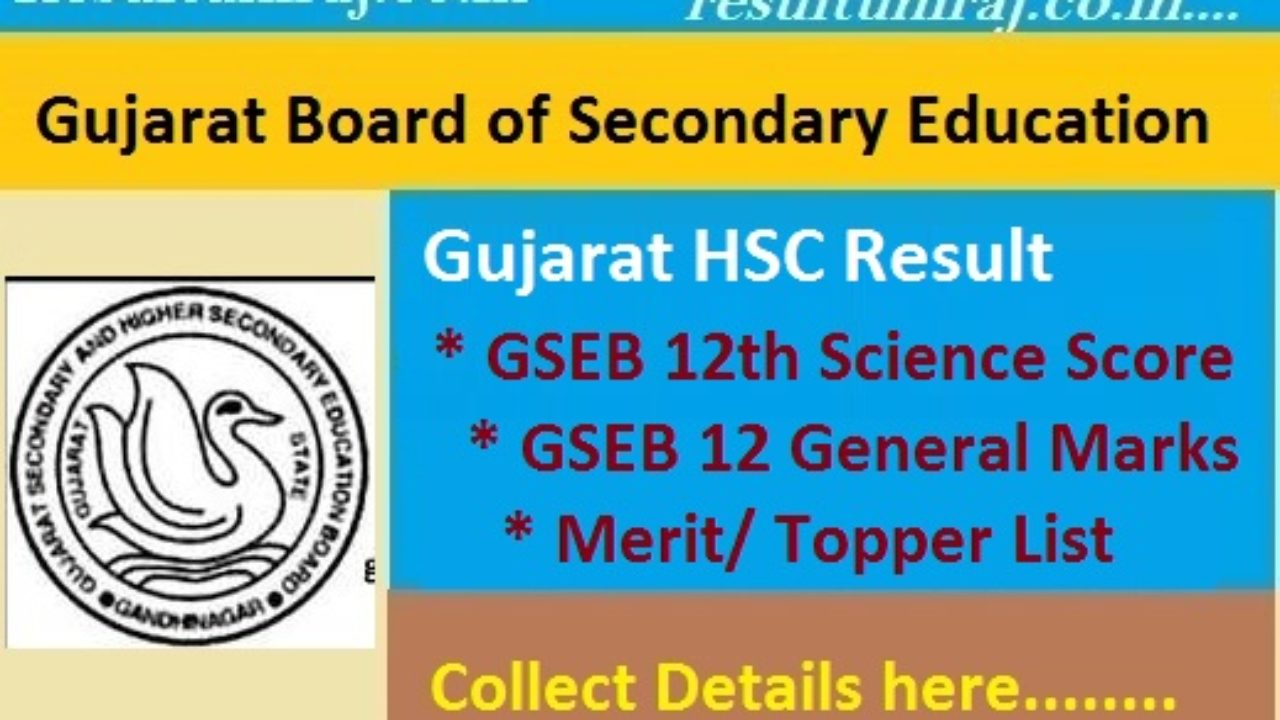 Gujarat Board HSC Result 2019 Name Wise Released, GSEB 12th General