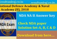 UPSC NDA II Answer Key 2018