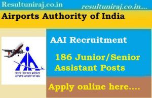 AAI Junior Assistant Recruitment 2018