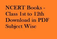 NCERT Books - Class 1st to 12th