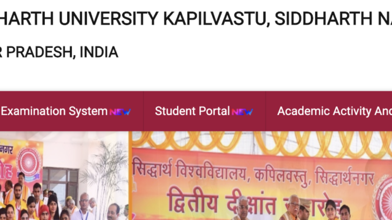 Siddharth University Result 2019- BA, BSC, BCOM, MA, MSC, MCOM