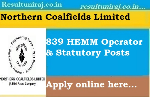2311 Govt Jobs For Trainee Posts In Northern Coalfields