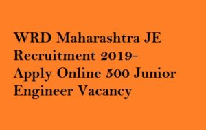 WRD Maharashtra JE Recruitment 2019