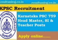 Karnataka PSC Recruitment 2018