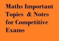 Maths Important Topics