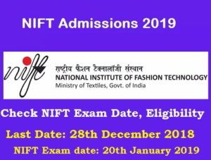NIFT Application Form 2019