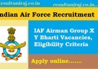 IAF Airman X Y Group Recruitment 2019