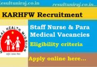 KARHFW Staff nurse Recruitment 2019