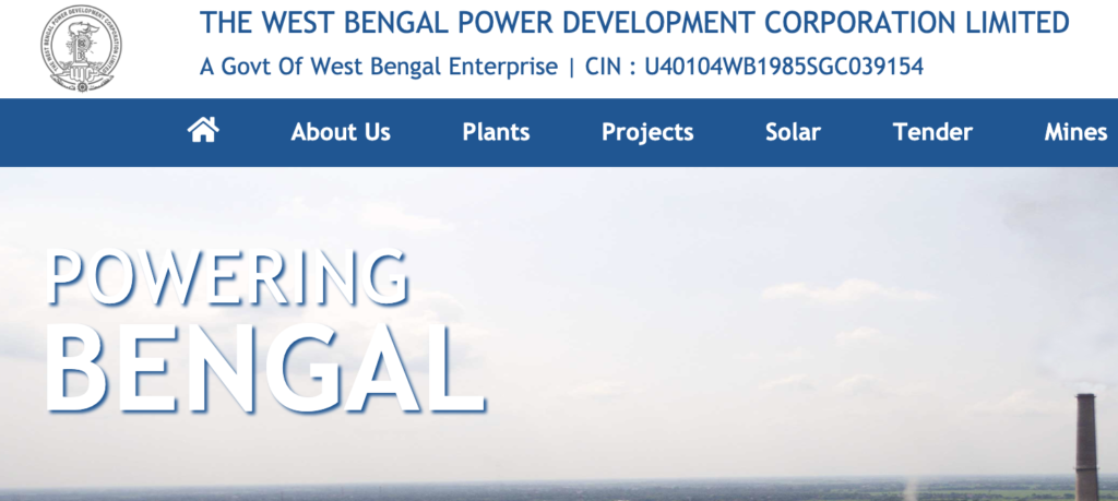 WBPDCL official website