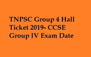 TNPSC Group 4 Hall Ticket 2019