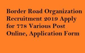 BRO DVRMT Recruitment 2019