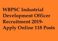 WBPSC IDO Recruitment 2019