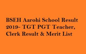 BSEH Aarohi School Result 2019