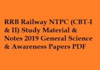 RRB NTPC Study Material 2019