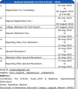 Rajasthan BSTC D.El.Ed Counselling 2019