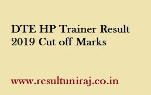 DTE HP Trainer Result 2019
