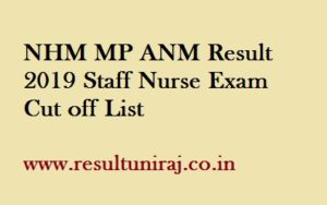 NHM MP ANM Result 2019