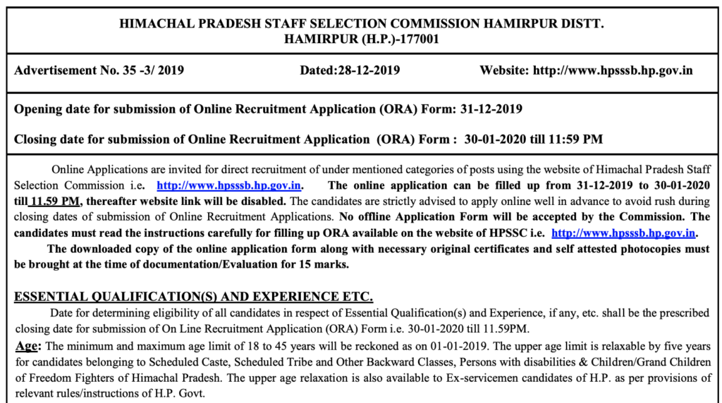 HP Health & Family Welfare Department Recruitment 2020 ... on office filing jobs, quick jobs, packing jobs, pastry jobs,