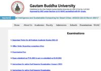 Gautam Buddha University UG & PG Time Table 2021
