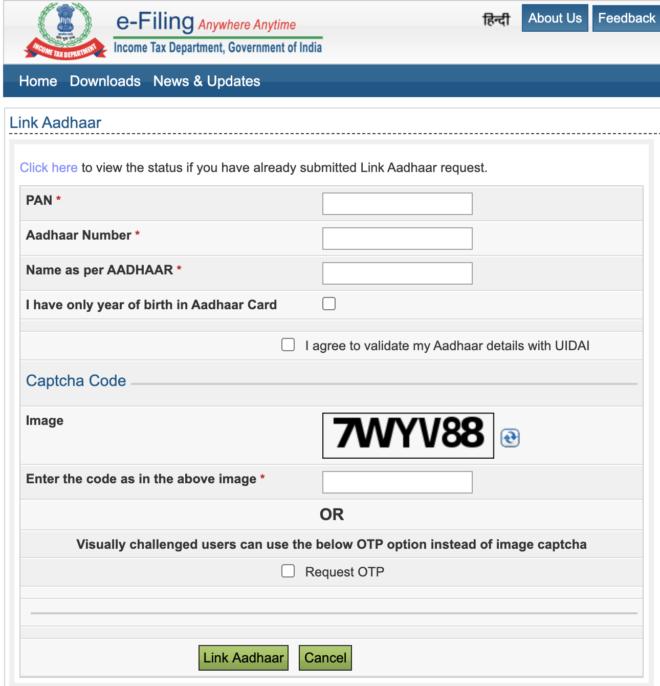 aadhaar card  pan card name correction online link