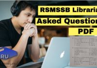 RSMSSB Librarian Question Paper