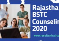 Rajasthan BSTC Counselling Dates