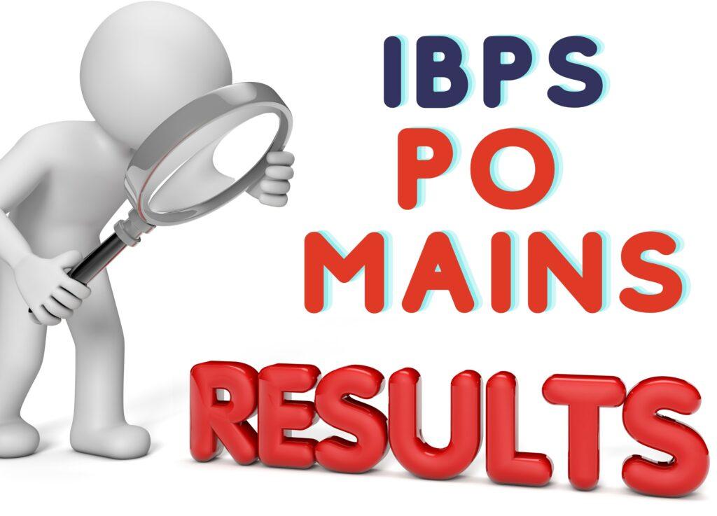 IBPS PO Mains 2021 Result